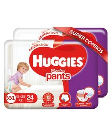 Huggies Wonder Pants XX Large Diapers Pack of 2  - 24 Pieces Each