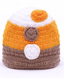 MayRa Knits Circle Design Cap - Brown