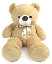 Dimpy Stuff Teddy Bear Soft Toy with Bow Tie Light Brown - Height 80 cm