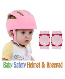 Liltoes Baby Safety Helmet & Knee Pads - Pink