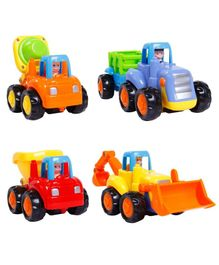 Zest 4 Toyz Friction Powered Mini Construction Vehicles Pack of 4 - Multicolor