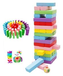 Toyshine Wooden Tower Building Game Multicolor - 51 Pieces