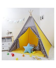 Polka Tots Kids Teepee Tent with Padded Mat - Yellow