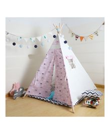 Polka Tots Kids Teepee Tent with Padded Mat - Pink