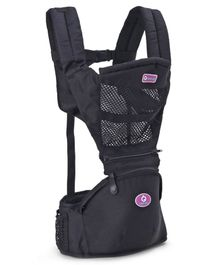 Baby Carrier with Safety Harness - Black