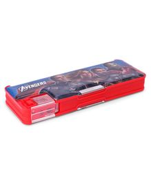 Marvel Avengers Magnetic Pencil Dual Sided Pencil Box  - Red