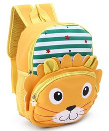 School Bag Lion Print Yellow - 13 Inches
