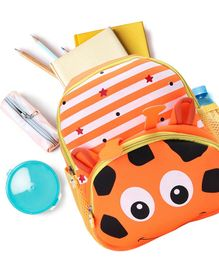 School Bag Animal Print Orange - 13 Inches
