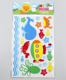Fish Shape Room Decor Stickers Multicolor - 22 Pieces