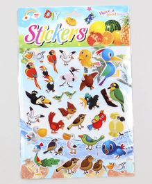 Birds Shape Room Decor Stickers Multicolor - 30 Pieces