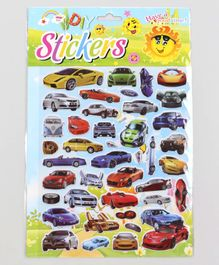 Imported Cars Shape Wall Decor Stickers Multicolor - 42 Pieces