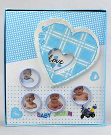 Baby Photo Album Heart Print - Blue