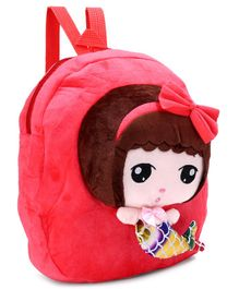Doll Design Plush Bag Red - 12 Inches