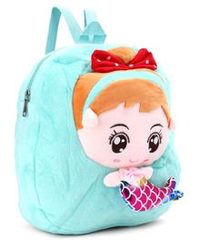 Doll Design Plush Bag Blue - 12 Inches