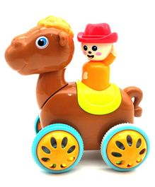 Emob Press & Go Fun Ball Rolling Camel Toy - Brown