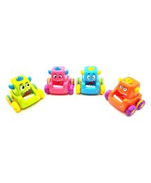 Emob Press & Go Toy Car Pack of 4 -  Multi Colour