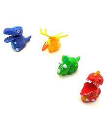 Emob Press & Go Toy Dinosaur Toys Pack of 4 -  Multi Colour