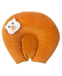 Ole Baby Soft Plush Head Support Mustard Seeds (Rai) Pillow - Brown