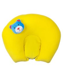 Ole Baby Soft Plush Head Support Mustard Seeds (Rai) Pillow - Yellow
