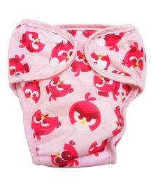 Angry Birds Reusable Cloth Diaper Small - Pink