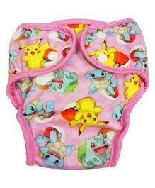 Pokemon Reusable Cloth Diaper Small - Pink