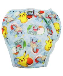 Pokemon Reusable Cloth Diaper Large - Blue
