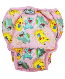 Pokemon Reusable Cloth Diaper Extra Large - Pink