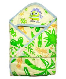 Angry Birds Hooded Wrapper - Green Yellow