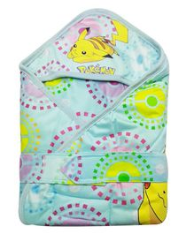 Pokemon Hooded Wrapper - Green