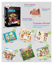 Playqid Festivals of India Puzzle Set of 17 - Total 595 Pieces