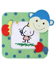 Square Shaped Photo Frame Monkey Design - Multicolor