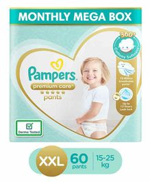 Pampers Premium Care Pant Style Diapers XXL Size Monthly Pack - 60 Pieces