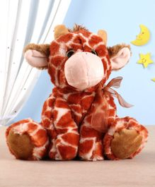 Starwalk Sitting Giraffe Plush Toy Brown White - Height 23 cm
