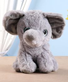 Starwalk Sitting Elephant Plush Toy Grey - Height 23 cm