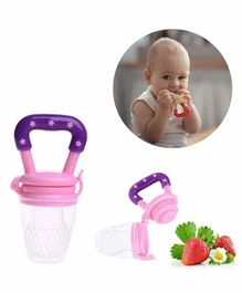 Safe-O-Kid Medium Size Silicone Fruit and Food Nibbler - Pink