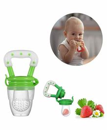 Safe-O-Kid Medium Size Silicone Fruit and Food Nibbler - Green