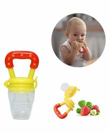 Safe-O-Kid Medium Size Silicone Fruit and Food Nibbler - Yellow
