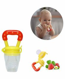Safe-O-Kid Large Size Silicone Fruit and Food Nibbler  - Yellow
