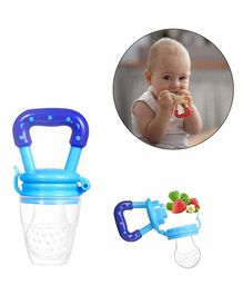 Safe-O-Kid Large Size Silicone Fruit and Food Nibbler  - Blue