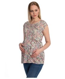 LC Waikiki Printed Short Sleeves Shirt Style Top - Multicolor