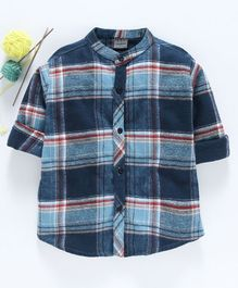Rikidoos Checked Full Sleeves Shirt - Blue