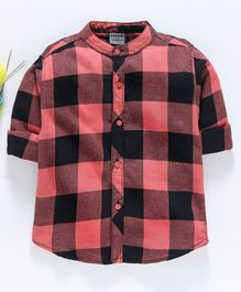 Rikidoos Checkered Full Sleeves Shirt - Red