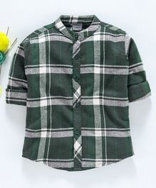 Rikidoos Checkered Full Sleeves Shirt - Green