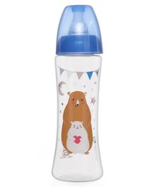 Vauva Wide Neck Slim Feeding Bottle 250 ml (Color and Print May Vary)