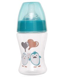 Vauva Wide Neck Slim Feeding Bottle - 150 ml (Colour & Print May Vary)