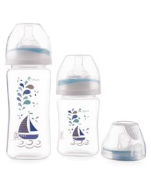 Vauva Premium Feeding Bottle Set Pack of 3 (Color May Vary) - 150 ml & 270 ml
