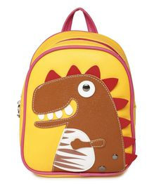 Kids On Board Dinosaur Applique Backpack - Yellow