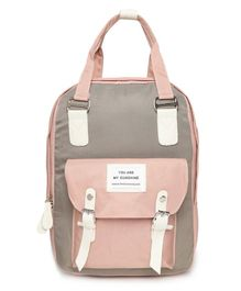 Kids On Board Quote Patch Backpack - Pink