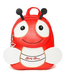 Kids On Board Ladybug Patch Backpack - Red