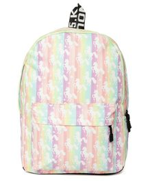 Kids On Board Horse Print Backpack - Multi Colour